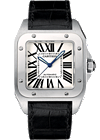 shop cartier watches - santos 100