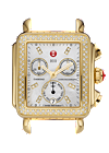 Michele watches - Gold Deco Day Diamond Dial