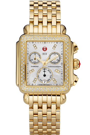 Gold Deco Day Diamond Dial at Tourneau