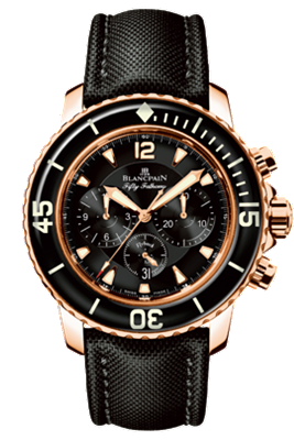 Blancpain watch Flyback Fifty Fathoms Red Gold
