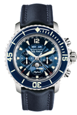 Blancpain fifty fathoms complete calendar moonphase watch