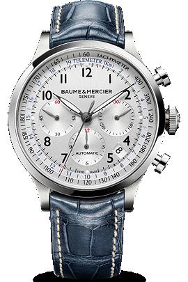 Baume & Mercier blue Capeland watch