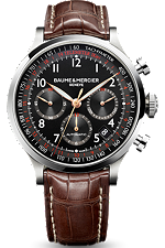 Baume & Mercier brown Capeland watch