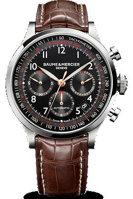 Baume & Mercier brown Capeland watch