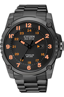 Citizen Watch - black super tough titanium