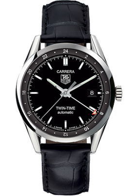 Carrera Tag Heuer Automatic Twin-Time 39mm Watch