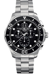 Tag Aquaracer Quartz Chronograph with Black Aluminum 43mm at Tourneau