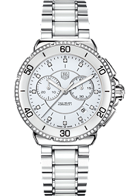 Tag Heuer Formula 1 Steel and Ceramic Diamonds Chronograph 41mm at Tourneau