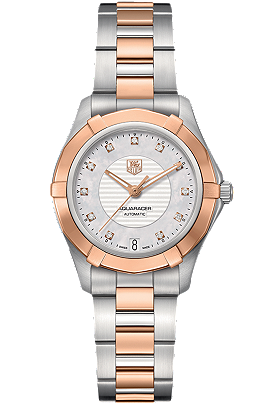 TAG Heuer |  AQUARACER steel & rose gold Calibre 5 automatic watch | WAP2351.BD0838