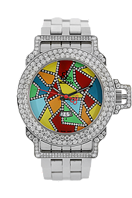 Stainless Steel Diamond Quartz at Tourneau