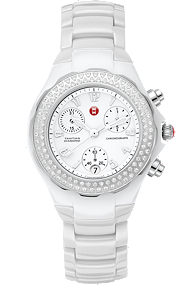 Michele Watches - Tahitian White Ceramic Diamond