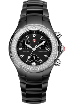 Michele Watches - Tahitian Black Ceramic Diamond watch