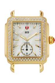 Michele Watches - Deco Diamond Gold watch