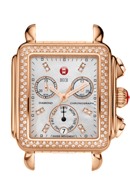 Michele Watches - Deco Rose Gold - Diamond Dial at Tourneau