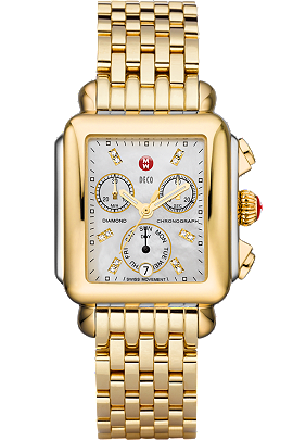 Deco Day Non-Diamond Gold, Diamond Dial at Tourneau
