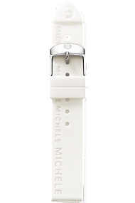 18mm White Silicon Strap at Tourneau