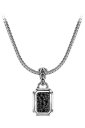 Classic Chain Silver Lava Necklace at Tourneau