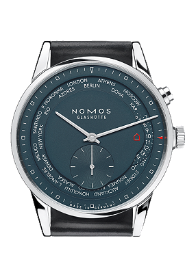 Nomos Glashuette Zurich Worldtimer True Blue 807