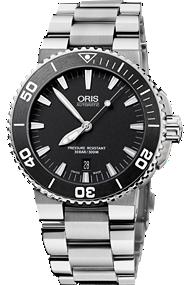Oris Black Dial Aquis watch