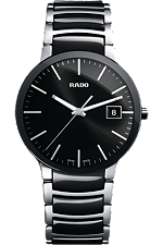Rado Centrix Large Quartz Black Dial | R30934162 at Tourneau
