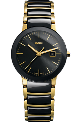 Rado Centrix Small Yellow SS Brac Black Dial | R30930152 at Tourneau