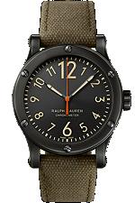Ralph Lauren Sporting RL67 Safari Chronometer Black Aged Finish Steel 39mm RLR0250900