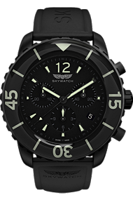 Skywatch | 44 mm Chrono Black IP | CCI014 at Tourneau
