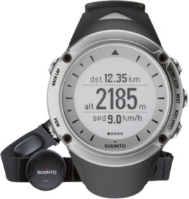 Suunto Ambit watch-HR Silver