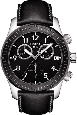 V8  Men's Quartz Watch - Black Dial With Black leather strap at Tourneau
