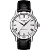 Carson Men's  Automatic White Classic Watch with Black leather strap