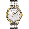 Carson Men's Automatic Gold Tone Classic Watch - White Dial and Two-Tone Bracelet