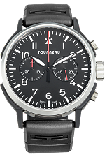 TNY 44mm Aviator Chronograph in Stainless Steel and DLC at Tourneau
