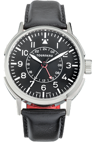 TNY 40mm Aviator GMT in Stainless Steel at Tourneau