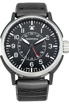 TNY 44mm Aviator GMT in Stainless Steel and DLC at Tourneau