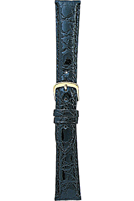 18 mm Black Crocodile Strap at Tourneau