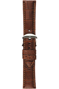 22 mm Chestnut Alligator Strap at Tourneau
