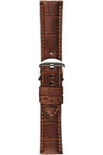 24 mm Chestnut Alligator Strap at Tourneau