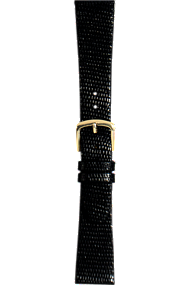 18 mm Black Lizard Strap at Tourneau