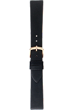 18 mm Black Calfskin Strap at Tourneau