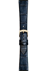 18 mm Black Alligator Strap at Tourneau