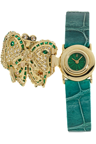Used Audemars Piguet diamond and emerald butterfly quartz watch