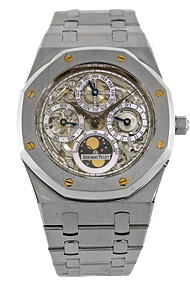 Used Audemars Piguet - royal oak perpetual calendar skeleton automatic