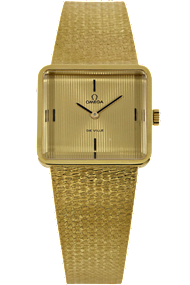 Pre-Owned Omega watch - 18K Yellow Gold De Ville Manual Circa 1980s