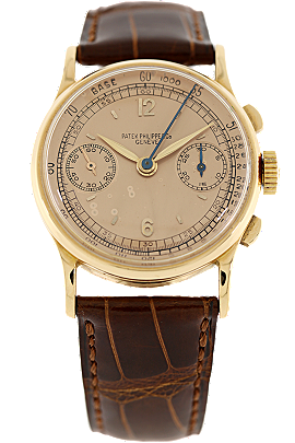 18K Rose Gold Chronograph Reference 130 Manual Circa 1940 at Tourneau