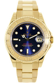 purchase used rolex 18K yellow gold yachtmaster automatic watch
