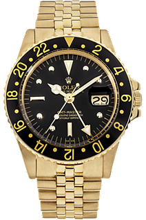 used rolex watch - 18K yellow gold gmt master automatic circa 1969