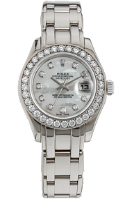 Used Rolex Ladies' Pearlmaster 18K White Gold watch