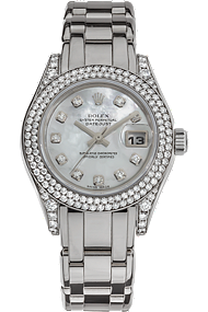 18K White Gold Datejust Pearlmaster Automatic at Tourneau