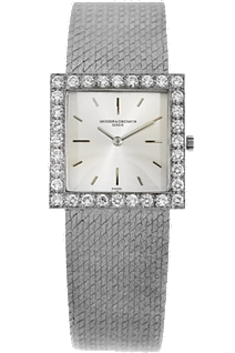 18K White Gold Square Vintage Manual Circa 1950s at Tourneau