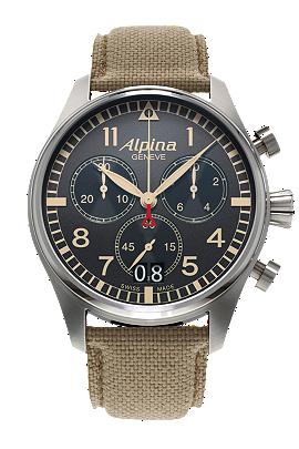 Alpina Pilot Chronograph Big Date Camouflage Grey AL-372BGR4S6
